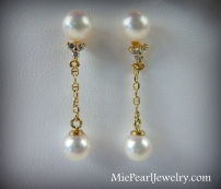 Akoya Pearl Gold Earrings