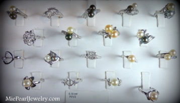 Silver Pearl Ring Settings