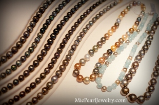 Tahitian Black Pearl Necklace Strands Showcase