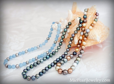 Various Tahitian Pearl Necklace Strands