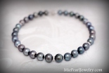 Tahitian Black Pearl Necklace Strand
