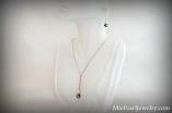 Elegant Tahitian Black Pearl Necklace and Earring Set