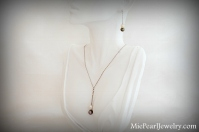 Elegant Tahitian Black Pearl Necklace and Earring Set