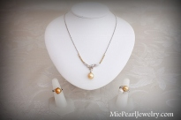 South Sea Pearl Necklace and Rings