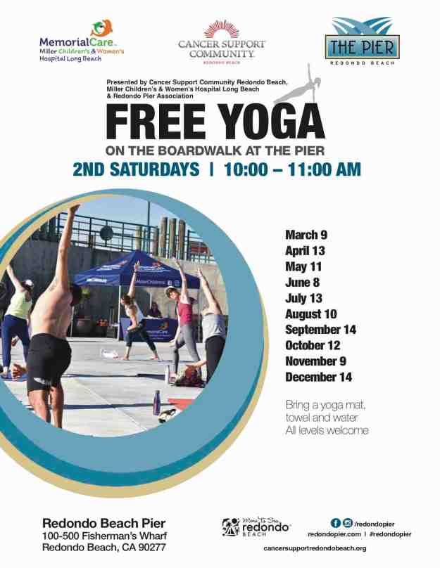 Free Yoga on the Redondo Beach Pier Boardwalk